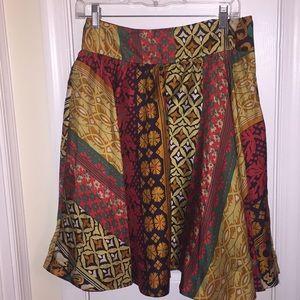 Anthropologie Viola Silk Flare Skirt